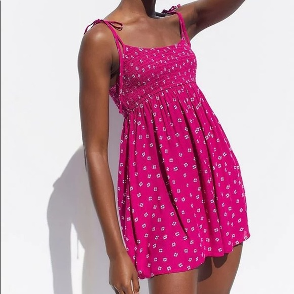 Urban Outfitters | Mae Smocked Tie Shoulder Romper